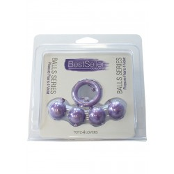 Kulki-PLEASURE PEARLS 4 VIOLET -