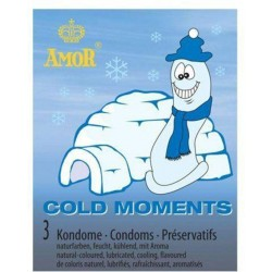 Prezerwatywy-Amor COLD moments 3pcs - Amor