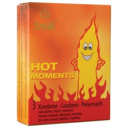 Prezerwatywy-Amor HOT moments 3pcs - Amor