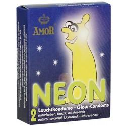 Prezerwatywy-Amor NEON świecące 2pcs - Amor