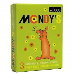 Prezerwatywy-Amor Rilaco MONDYS smakowe 3pcs - Amor