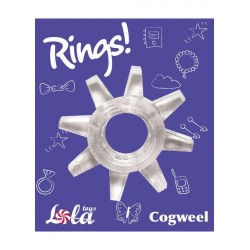 Pierścień-Cockring Rings Cogweel white - Lola Toys