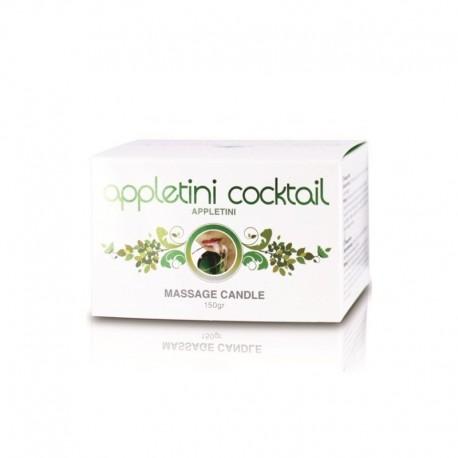 Świeca/krem-Appletini Cocktail Massage Candle Tin (Appletini) - Cobeco