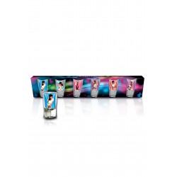 Szkło-Zestaw 6 kieliszków 3,5 cl Strip Club Kobiety - HOT SHOT