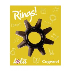 Pierścień-Cockring Rings Cogweel black - Lola Toys