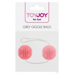 Kulki-GIRLY GIGGLE LOVE BALLS SOFT PINK - ToyJoy Basics