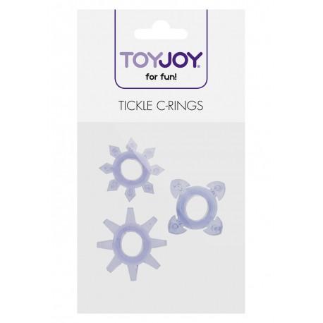Pierścień-TICKLE C-RINGS PURPLE -